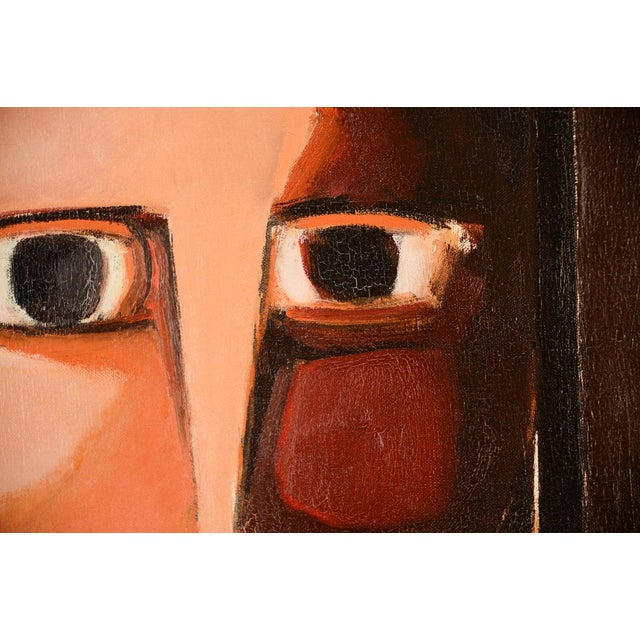 Antonio Guanse 'Abstract Face by the Window' Oil Painting -1960s For Sale In Los Angeles - Image 6 of 10