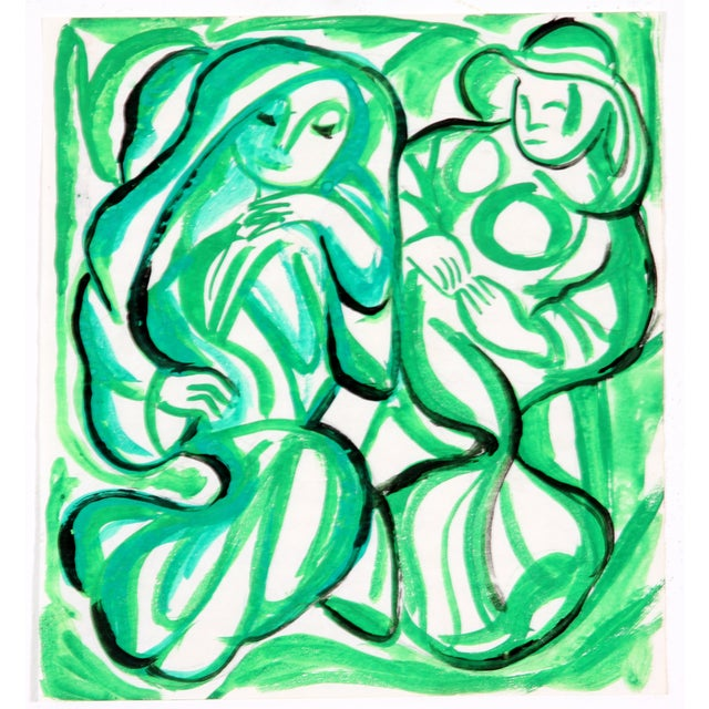 Figures in Green by Phillip Callahan - Image 1 of 3