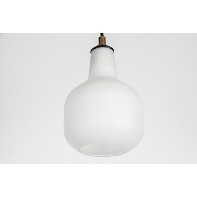 1950s Italian Glass Pendants Attributed to Stilnovo For Sale - Image 9 of 13