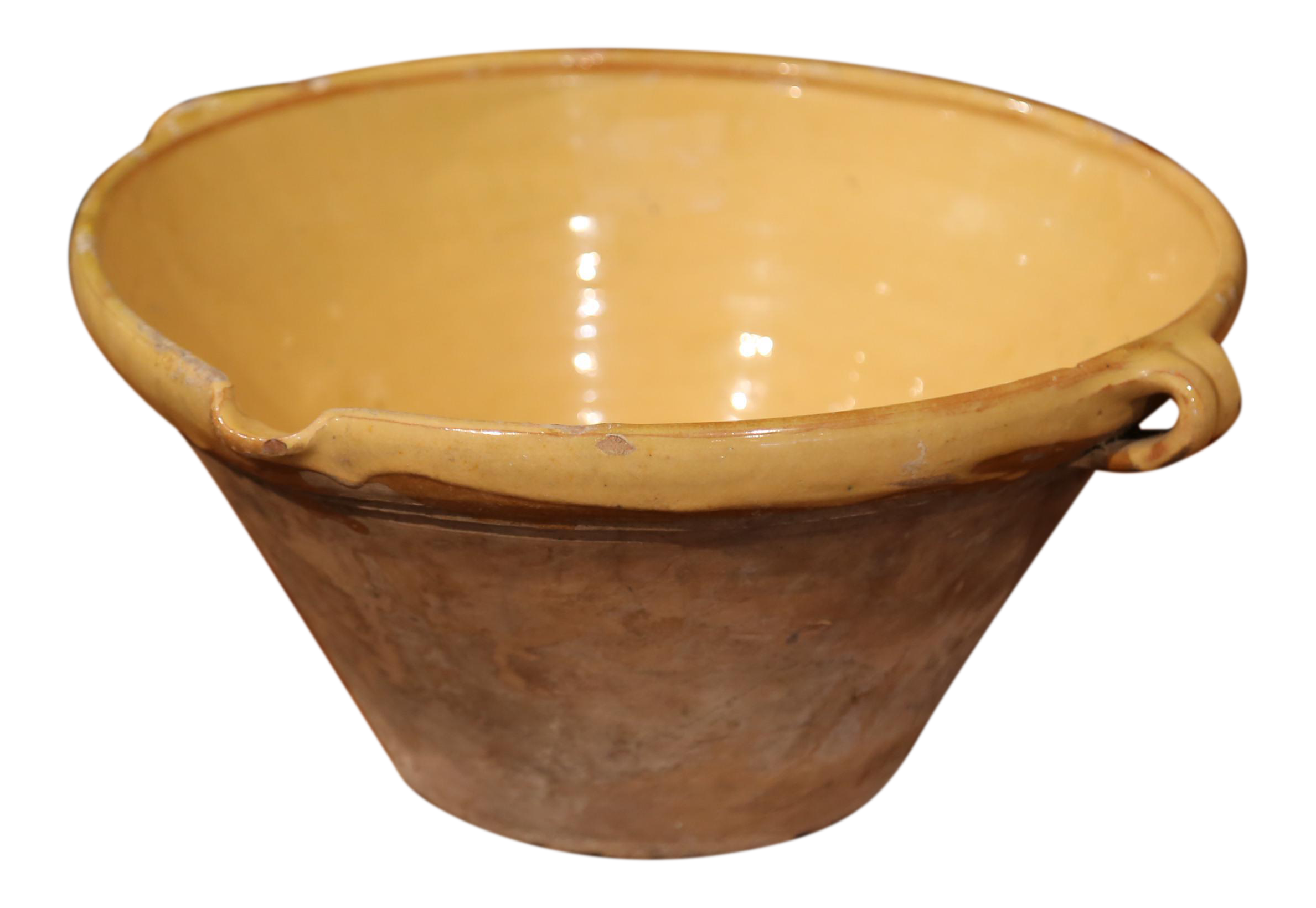 Yellow Decorative Bowl Awesome Sophisticated 19Th Century French Yellow Glazed Terracotta Tian Inspiration