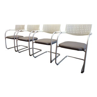 Antonio Citterio for Vitra Visasoft Visavis Guest & Conference Chairs -Set of 4 For Sale