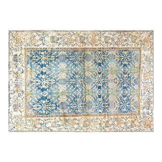 "1920s Cotton Agra 4'x6'10"" For Sale"