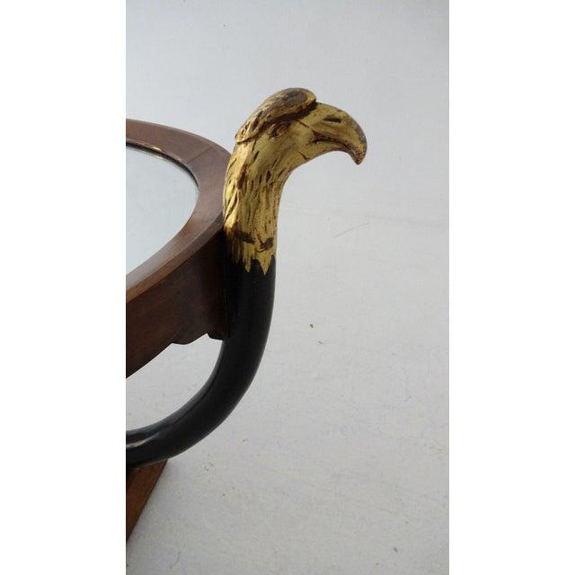 Unique Walnut Biedermeier Style Side Table For Sale - Image 9 of 10