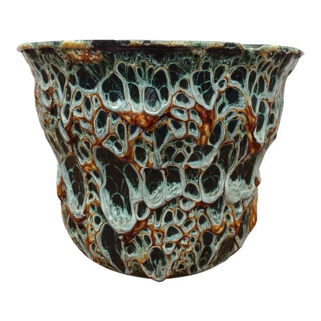 "Mid-Century Modern Vallauris Studio ""Fat Lava"" Studio Pottery Vessel For Sale"