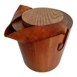 Vintage Wooden Nissen Ice Bucket For Sale
