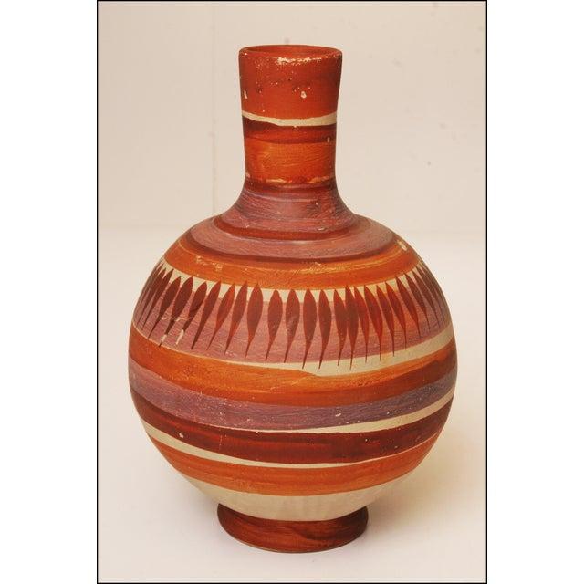 Vintage Native American Brown Art Pottery Vase - Image 2 of 11