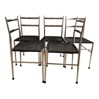 Gio Ponti Leggera Chrome Chairs - Set of 5