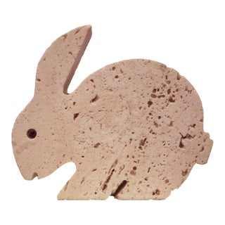 Rare Fratelli Mannelli Travertine Bunny Rabbit Tabletop Sculpture For Sale
