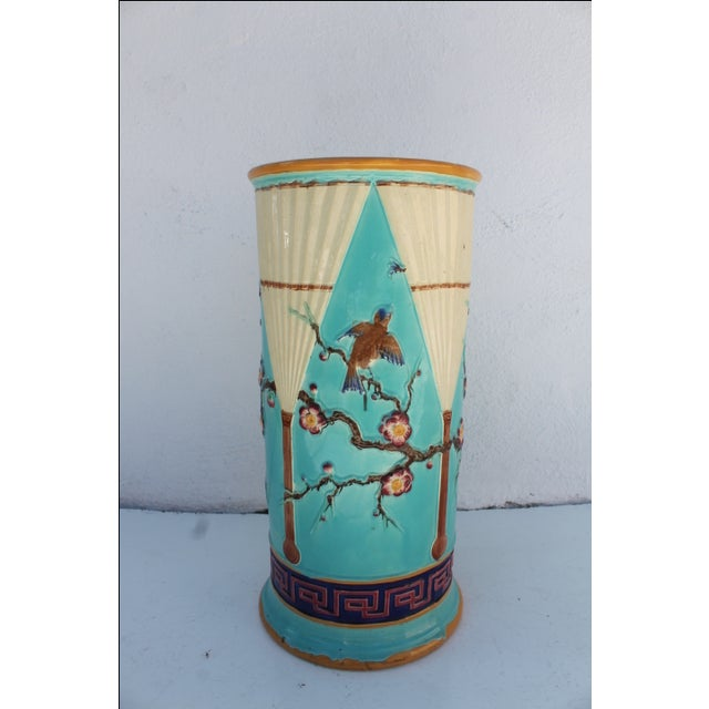 Vintage Hand Painted Ceramic Umbrella Stand - Image 8 of 8