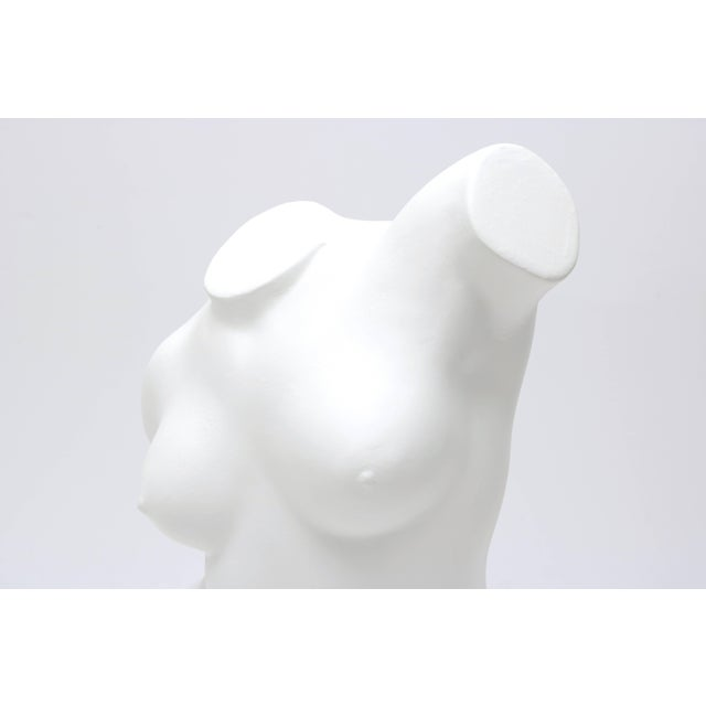 Figurative Large Scale Nude Female Torso Sculpture in Cast Plaster For Sale - Image 3 of 10