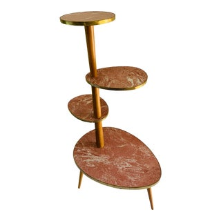 Atomic Mid Century Modern Plant Stand For Sale