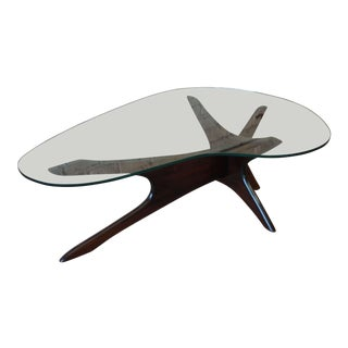 Adrian Pearsall for Craft Associates Sculpted Walnut Coffee Table For Sale