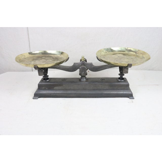 19th Century French Cast Iron Balance Scale For Sale - Image 9 of 10