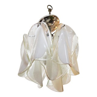 Italian Modern Murano Glass Handkerchief Pendant For Sale