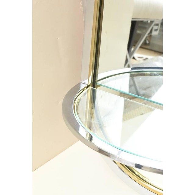 Brass Pace Racetrack Arched Wall Mirror For Sale - Image 7 of 8