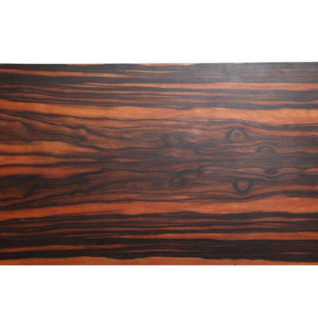 Modernist macassar Art Deco coffee table for Metz & Co For Sale - Image 6 of 7