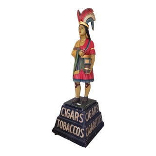 Indian Princess Cigar Store Figure Attributed to Samuel Anderson Robb C.1890 For Sale
