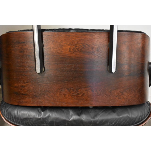 Original Herman Miller Eames Lounge Chair & Ottoman For Sale - Image 9 of 12