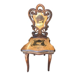 German Inlaid Musical Children's Chair For Sale