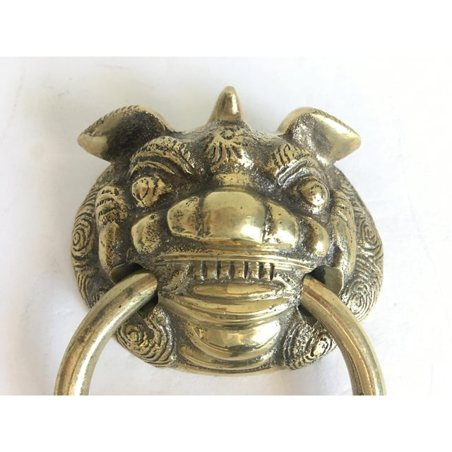 Asian Foo Dog Door Knocker For Sale - Image 3 of 7