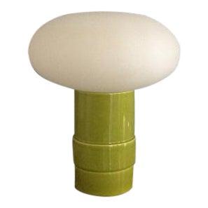 Green Italian Mushroom Lamp, Italy C.1960 For Sale