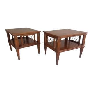 Mid Century Modern Two Tiered End Tables - a Pair For Sale