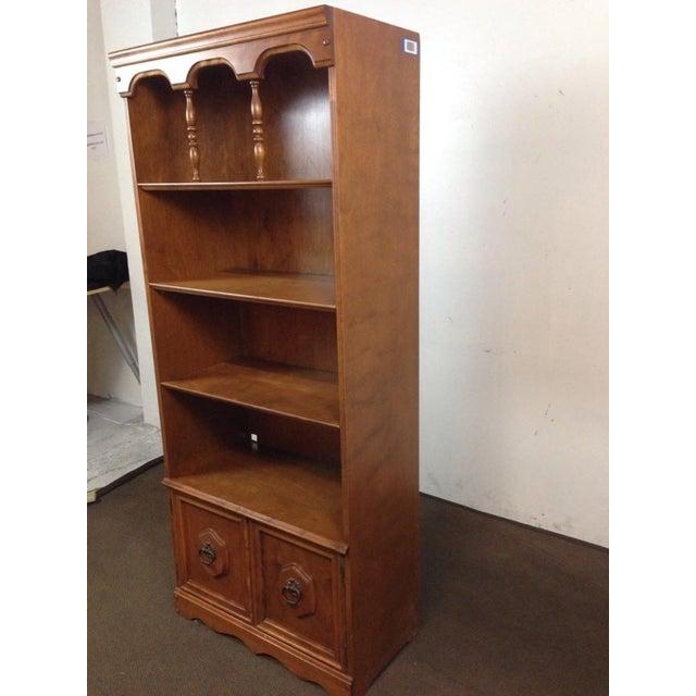 Antique Carved Oak Bookcase - Image 3 of 4