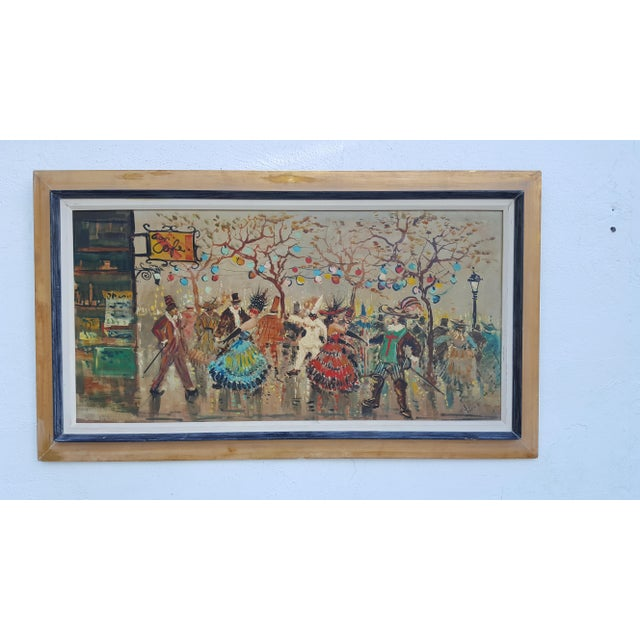 The most popular historical, traditional, outlandish and colorful - Venice Italy Carnival of Masks, abstract expressionist...