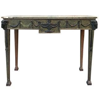 19th Century Adam Style Scagliola Console Table For Sale