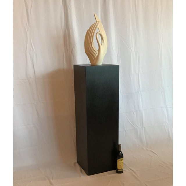 1970s Mid Century Modern Pedestal Display Stand Pillar For Sale In Chicago - Image 6 of 7