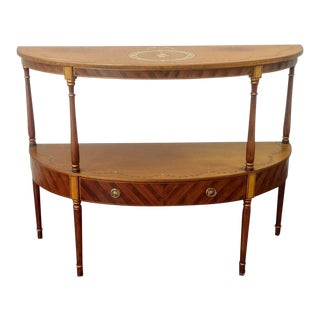 Demi-Lune Console With Shelf For Sale