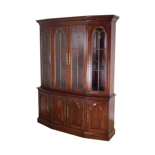 Pennsylvania House Traditional Cherry Breakfront China Cabinet For Sale