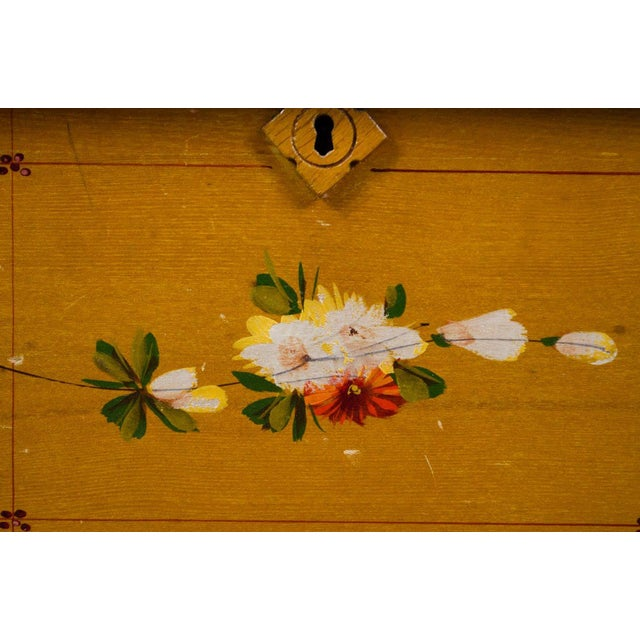 Arts and Crafts Style Floral Motif Dresser With Mirror For Sale - Image 9 of 13
