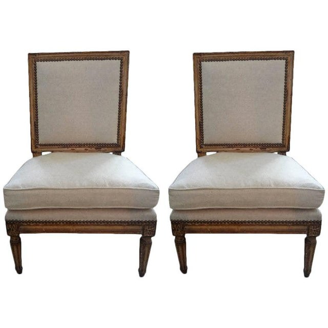 Cream 19th Century French Louis XVI Style Children's Chairs-A Pair For Sale - Image 8 of 9