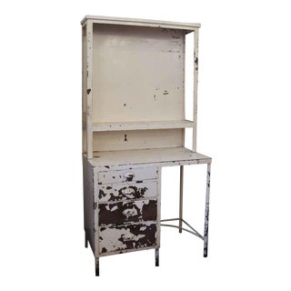 20th Century Industrial Medical Surgical Storage Cabinet Desk For Sale