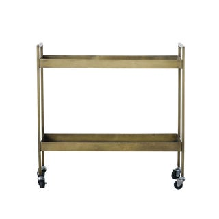 20th Century Minimalist Metal Two-Tier Bar Cart For Sale