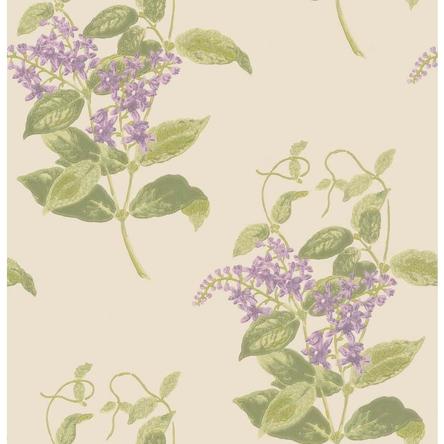 Cole & Son Madras Violet Classic Botanical Style Wallpaper Sample For Sale - Image 4 of 4