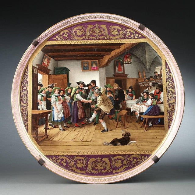 Mid 19th Century Decorative Vienna Porcelain Tray For Sale - Image 5 of 7