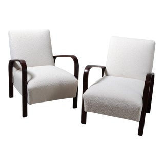 1940s Italian Arm Chairs - a Pair For Sale