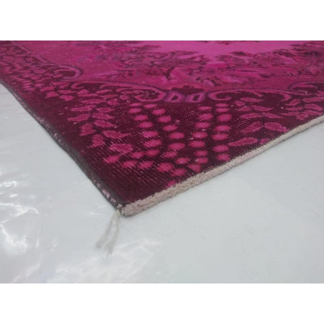 1970s 1970s Vintage Overdyed Distressed Turkish Rug - 5′7″ × 8′1″ For Sale - Image 5 of 6