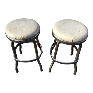 Mid Century Cosco Diner Stools- a Pair For Sale