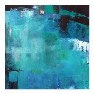 """Midnight Reflections"" in Shades of Blue Original Abstract Painting by Paul Ashby"