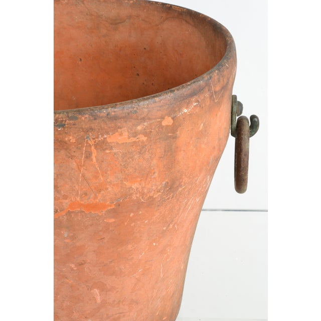 Cast Iron Garden Planter With Terra Cotta Finish For Sale - Image 4 of 11