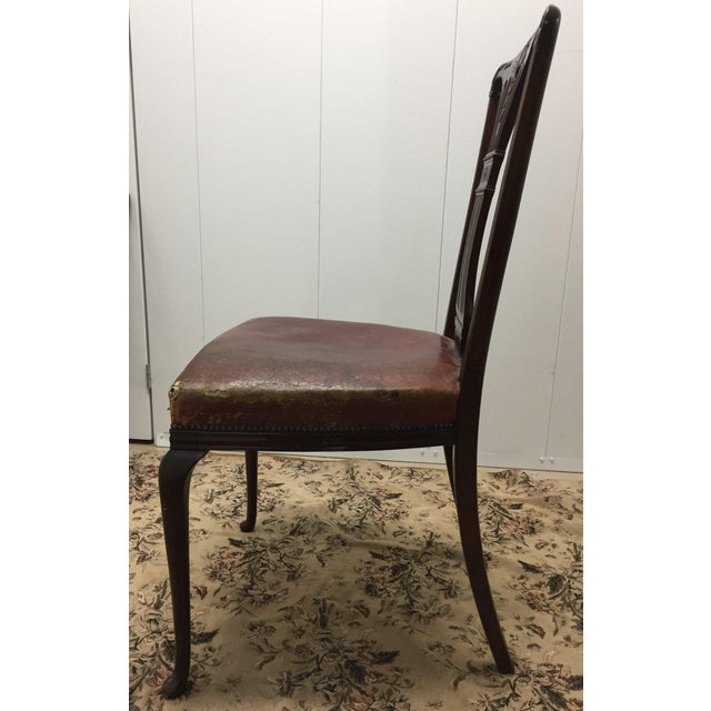 Mid 20th Century Vintage Mahogany Side Chair For Sale - Image 5 of 6