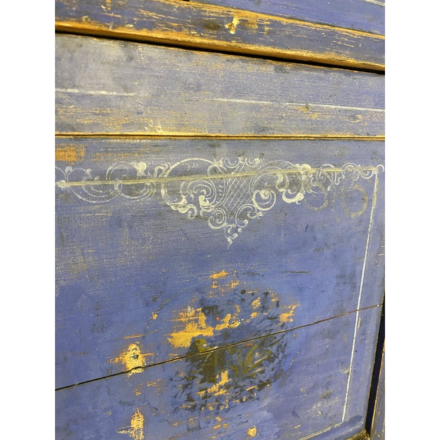 Antique Swedish Commode or Chest With Original Paint For Sale - Image 4 of 13
