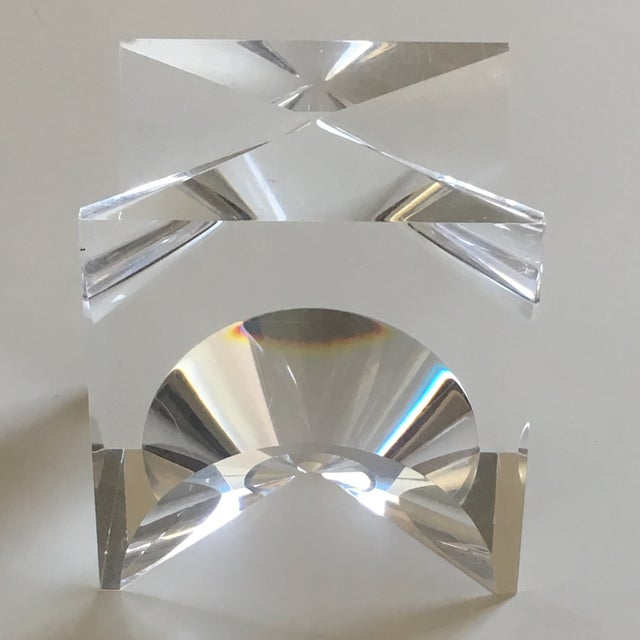 1960s Mid-Century Modern Alessio Tasca Lucite Cube Sculpture For Sale In Los Angeles - Image 6 of 11