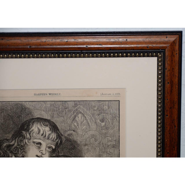 "Thomas Nast ""A Christmas Sketch"" for Harpers Weekly C.1878 For Sale - Image 4 of 10"