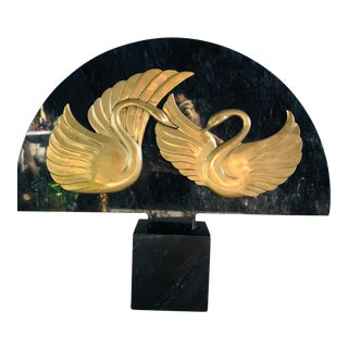 Dolbi Cashier Swan Marble Sculpture For Sale