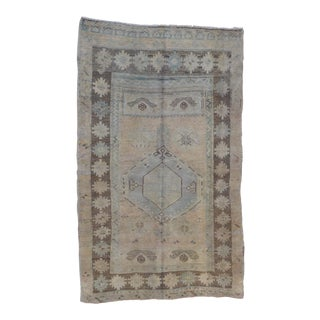 Vintage Turkish Oushak Rug - 3′8″ × 6′