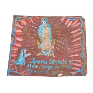 1940's Vintage One of a Kind Mexican Retablo For Sale